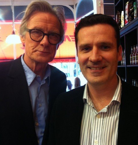Brian with Bill Nighy
