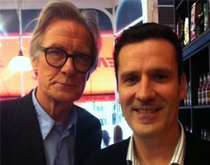 Brian with iconic screen actor Bill Nighy