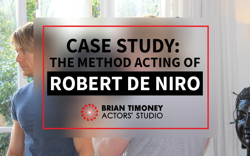 Method acting Robert De Niro