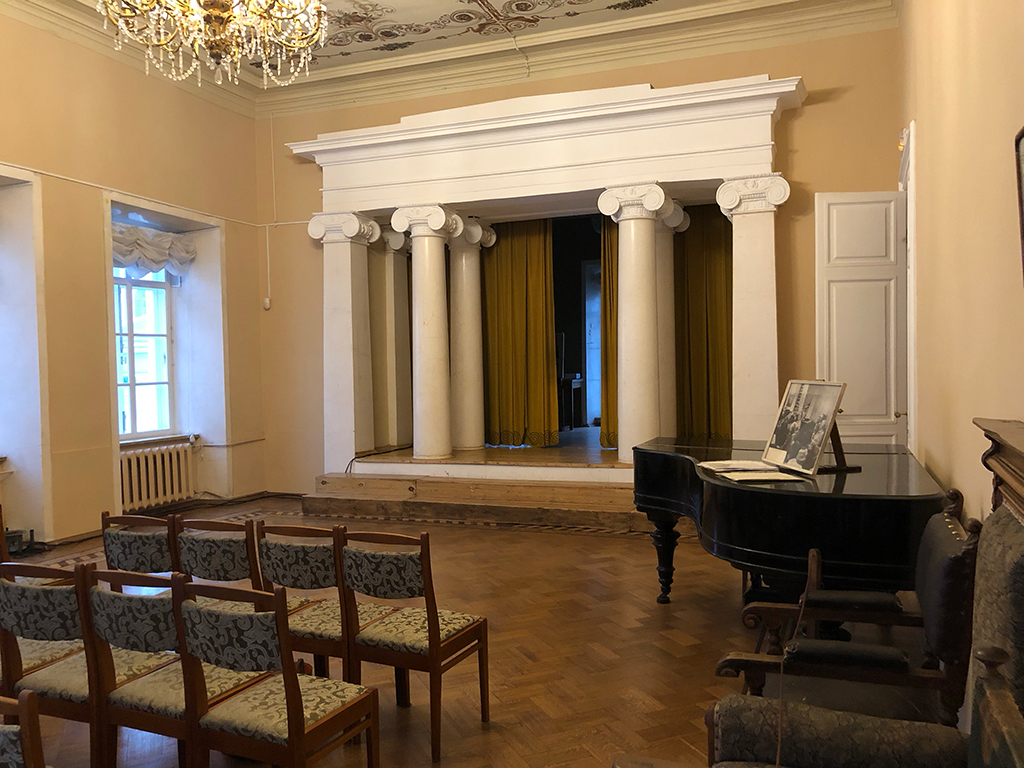 The room Stanislavski, Vakhtangov and Demidov rehearsed in
